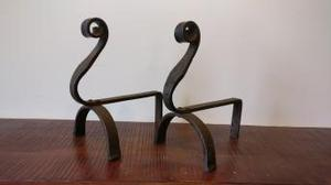 Pair of Arts and Crafts fire dogs