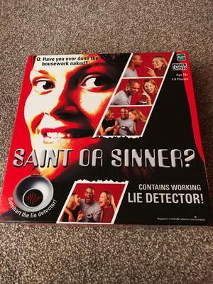 Saint or sinner board game