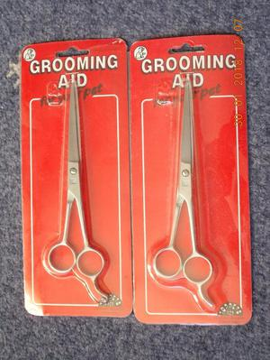2 NEW GROOMING AID SCISSORS FOR YOUR PET TOPPET MADE BY LARK