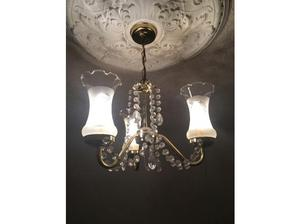 Brass and Crystal Chandelier in Liverpool
