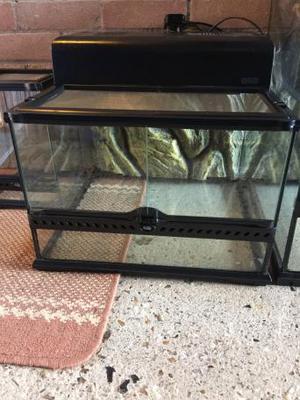 For sale  Exo Terra terrarium with light unit