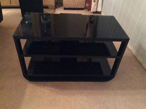 High Gloss Black Flat Screen Television Stand