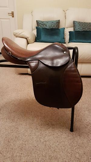 Jefferies Brown leather saddle for sale