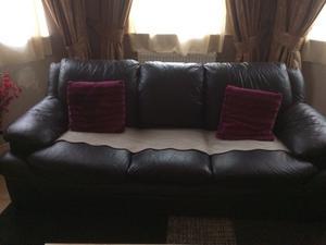 Leather 3+2+1 sofas