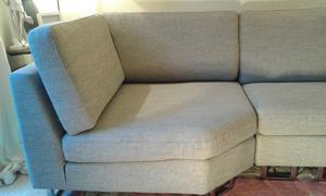 Modern light grey/beige Corner sofa