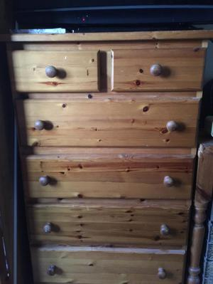 Pine chest of drawers/desk