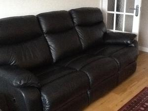 Two reclining sofas