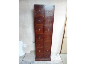 Beautiful solid Mahogany wood reproduction CD rack / storage