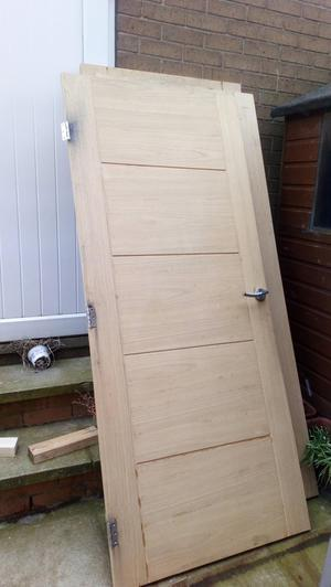 Internal solid oak doors