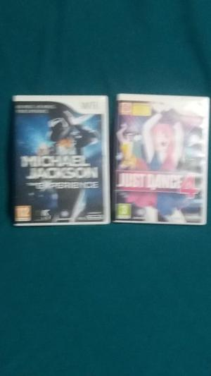 JUST DANCE 4 AND MICHAEL JACKSON THE EXPERIENCE!!!! FOR WII!!