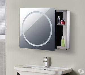 LED Mirror Cabinet - HOMCOM 70L×60W×13Tcm in Silver