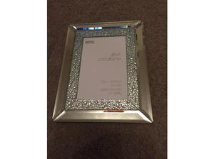 "New M&S 4"" x 6"" silver edged photo frame in Birmingham"