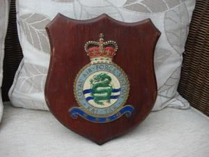 Old Royal Air Force Station - Kai Tak Wooden Plaque