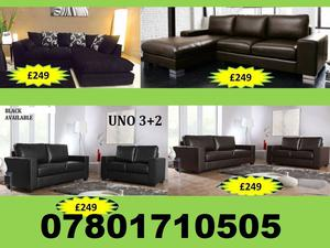 SOFA BRAND NEW SOFA RANGE CORNER AND 3+2 LEATHER AND FABRIC ALL UNDER £