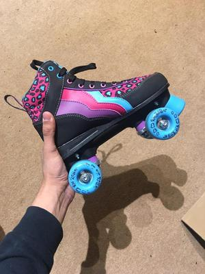 Size UK 5 Rio Roller Skates with Adjustable Helmets