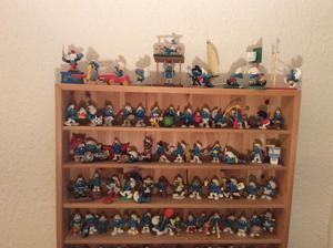 Smurf Collection with wooden display