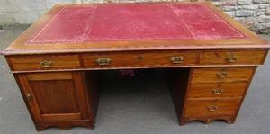 Double Pedestal Double Sided Leather Top Desk Posot Class