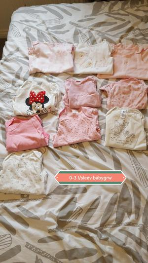 Long sleeve babyvests 0-3