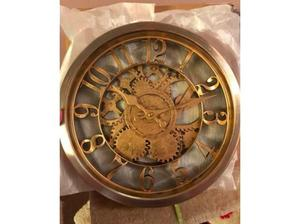 Vintage Style Gold Wall Clock - Brand new, in box! in