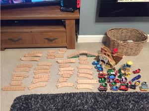 Wooden Thomas train track and trains in Walsall