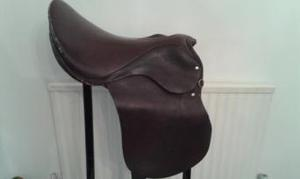 "Brown Leather Saddle 17"" Used but in good condition"