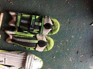 Cricket pads and bats