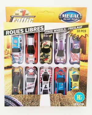 Metal Die Cast Toy Cars - Includes 10 Cars