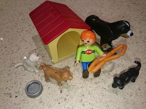 Playmobil  Boy and Dog family set with kennel