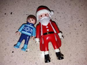 Playmobil Santa and Boy in Christmas Jumper