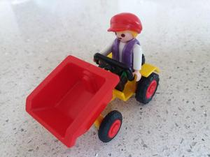 Playmobil boy with small tractor