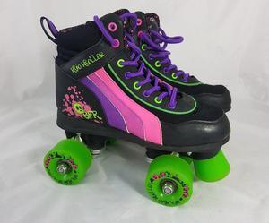 Quad Roller Skates Black Size 2 UK
