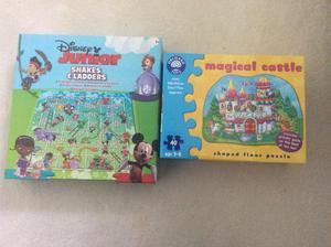Snakes and ladders and magical castle puzzle
