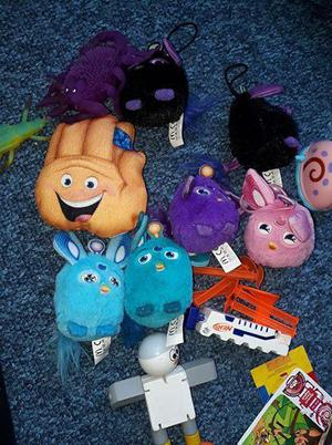 bag of various toys
