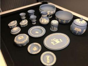 15 PIECES OF WEDGEWOOD BLUE in Stoke On Trent
