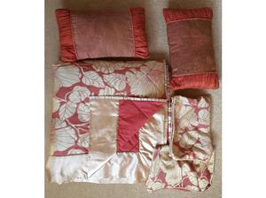 """2 pairs Curtains 66"""" Wide x 72"""" Drop / Matching Bedspread/2"""