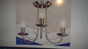 3 Light Flush Pendant (2 available)