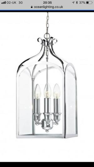 3 light Crome lantern