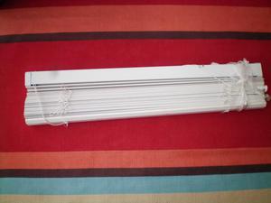 4 white wooden Venetian blinds