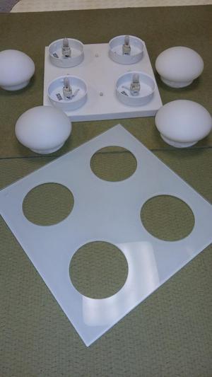 Glass Lounge/kitchen flush ceiling lights