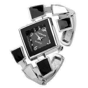 JSDDE Fashion Women's Bangle Cuff Bracelet Analog Watch,