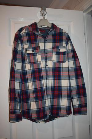 NEXT boy's lined checked shirt age 13 years
