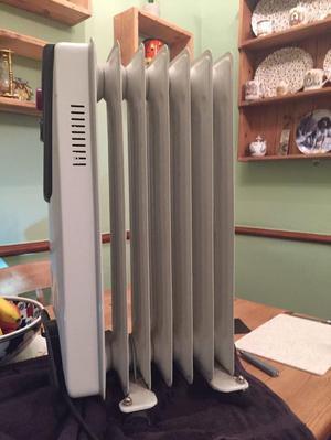 Oil filled portable radiator/heater