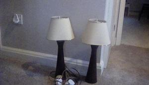 Pair of bedside/table lamps