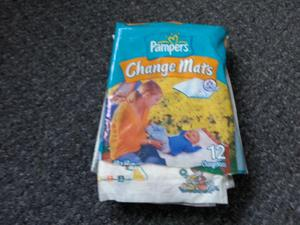 """Pampers disposable """"Change mats"""" & """"Bed mats"""""""