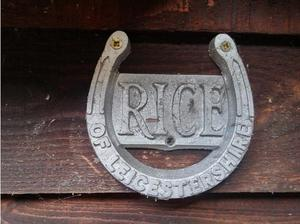 Rice of Leicestershire HorseShoe Badge () in