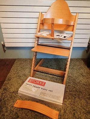 Stokke tripp trapp high chair in excellent posot class for Tripp trapp complete