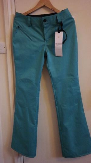 Volcom women's brand new ski/ snowboard waterproof snow pants /trousers; size S