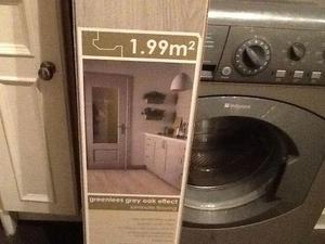 1 pack grey laminate flooring