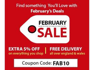 February Furniture Sale: Get Up to 80% Off + Extra 5% off |