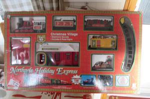 xmas toy train set